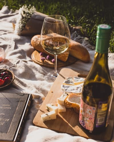 Wine is perfect for the picnic too